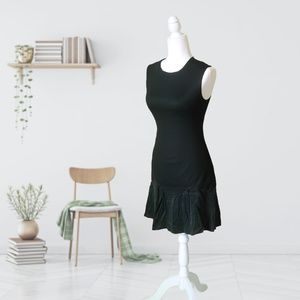 Rebecca Taylor Ruffled Bottom Black Dress NWOT